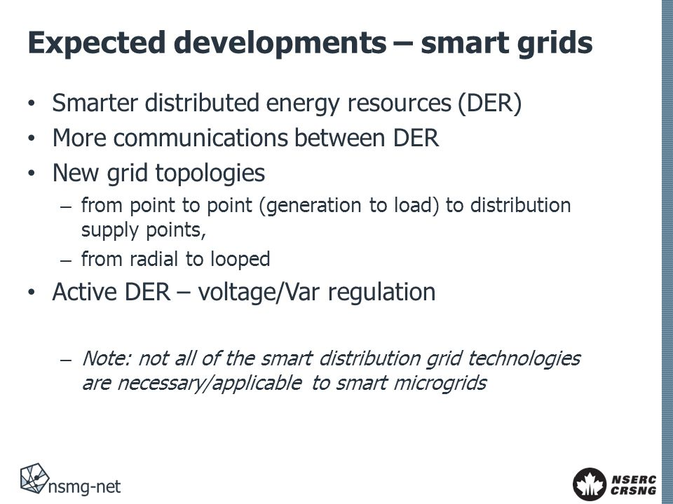Expected developments – smart grids