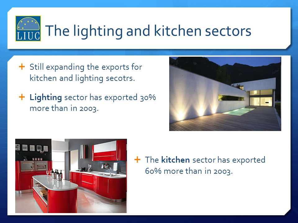The lighting and kitchen sectors