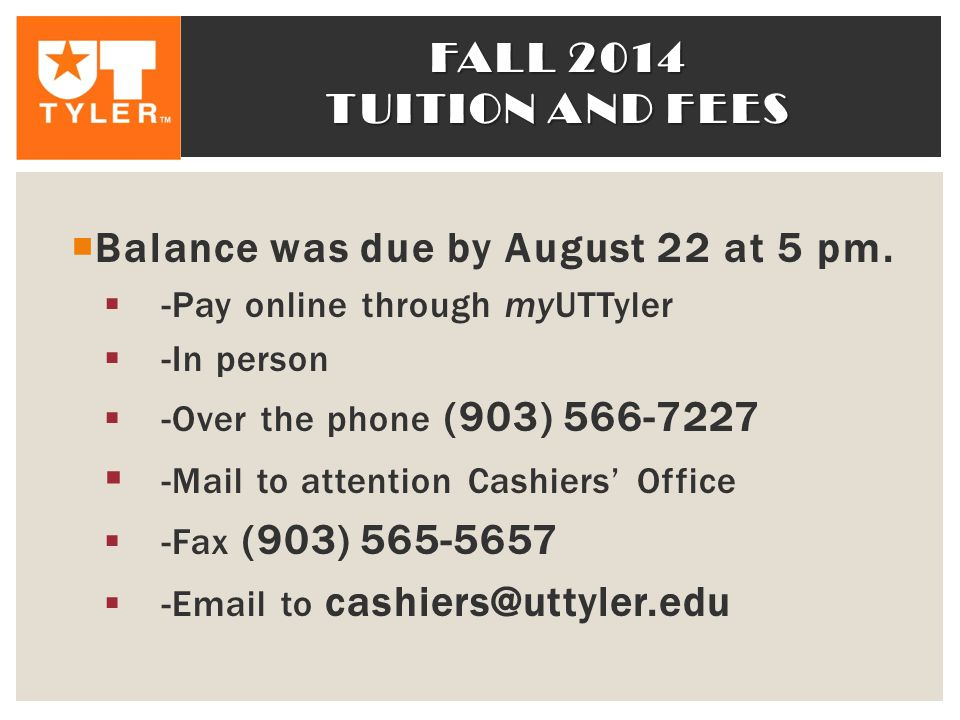 Balance was due by August 22 at 5 pm.
