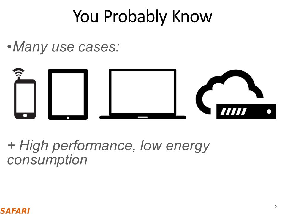 You Probably Know Many use cases: