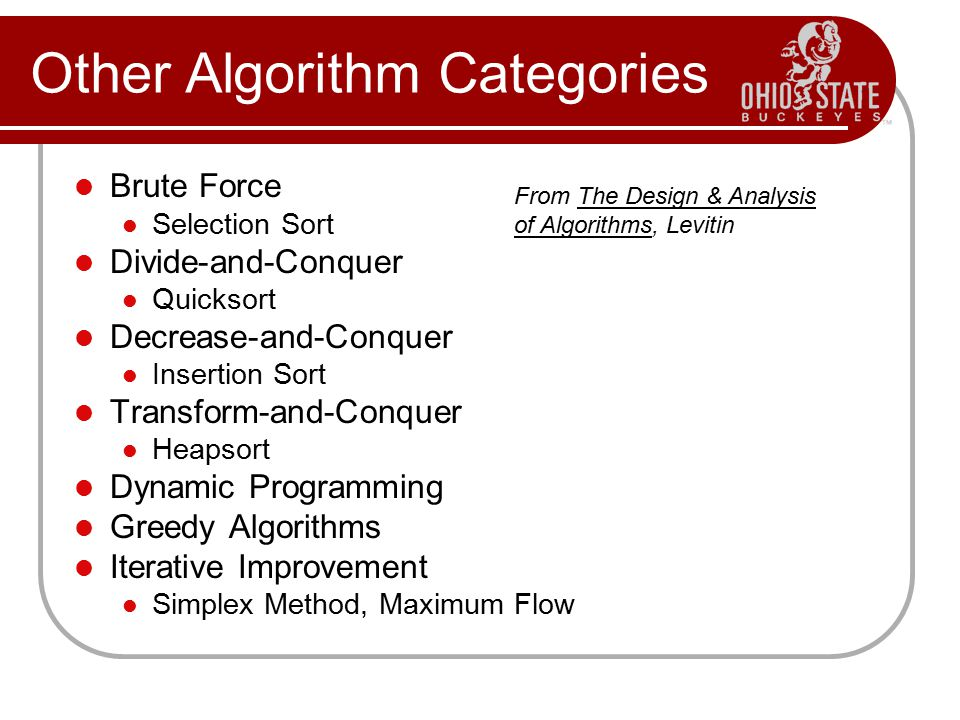 Other Algorithm Categories