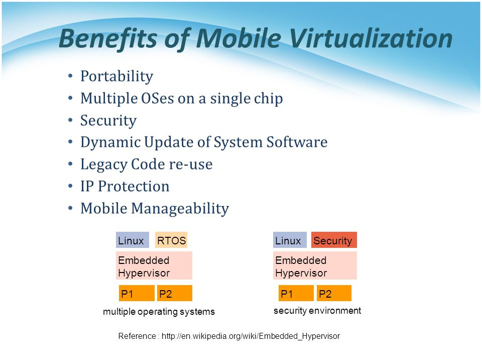 Benefits of Mobile Virtualization