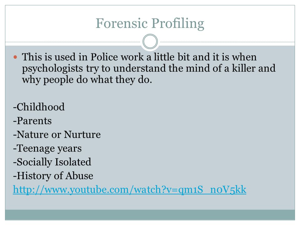 Forensic Profiling