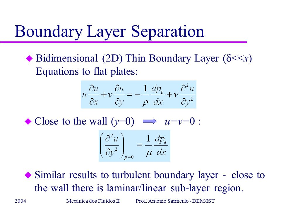 Boundary Layer Separation