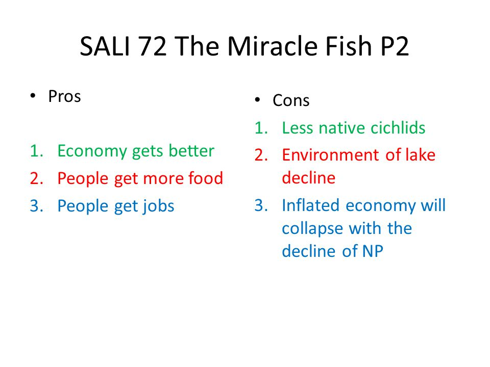 SALI 72 The Miracle Fish P2 Pros Cons Less native cichlids
