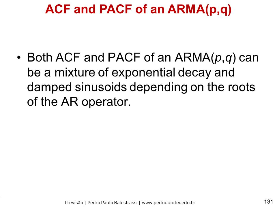 ACF and PACF of an ARMA(p,q)