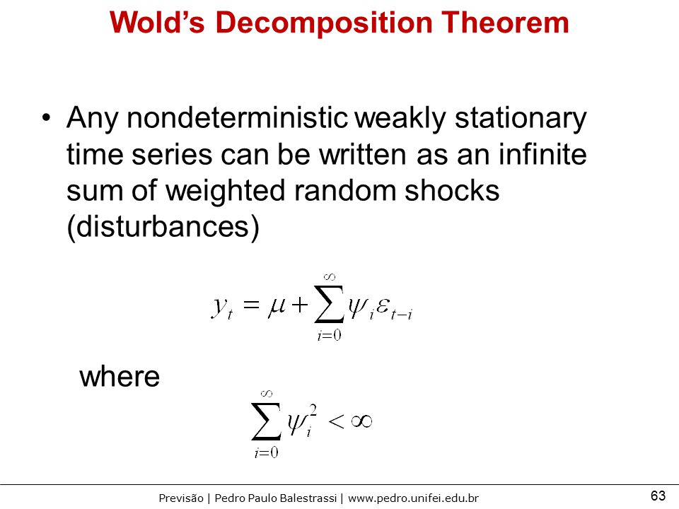 Wold's Decomposition Theorem