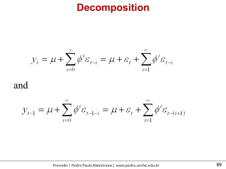Decomposition and