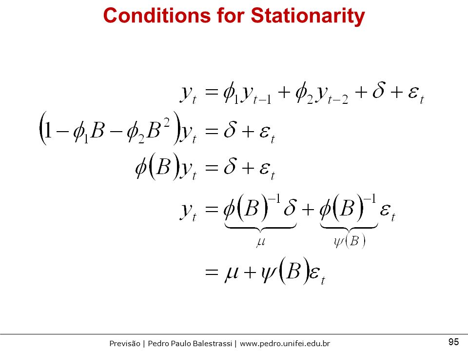 Conditions for Stationarity