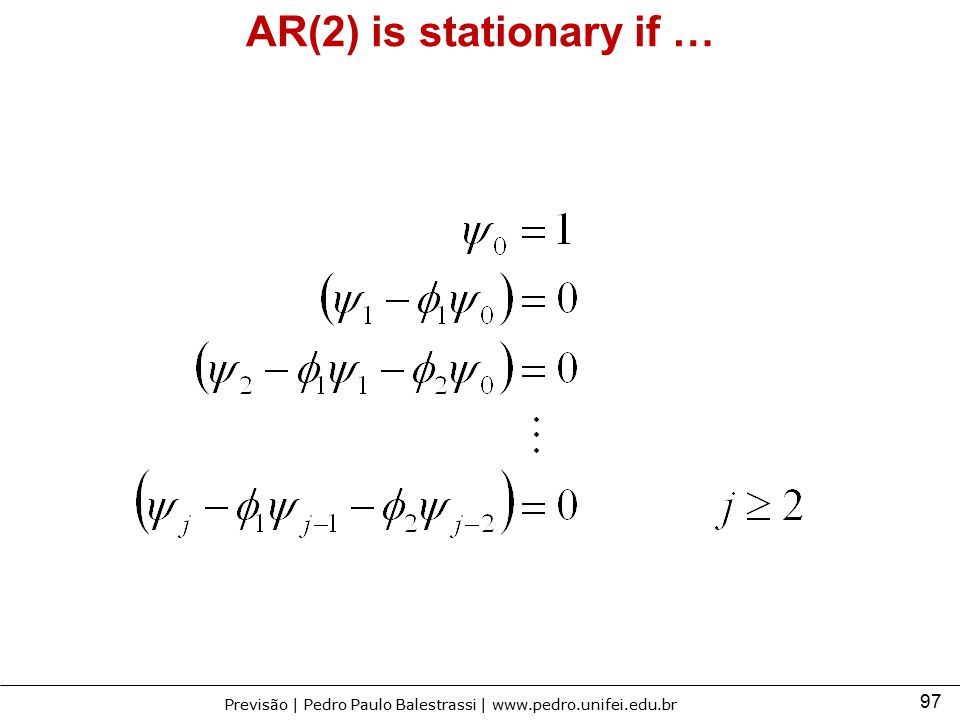 AR(2) is stationary if …