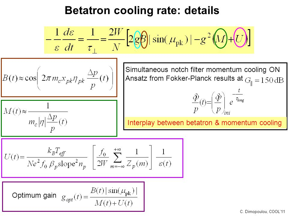 Betatron cooling rate: details