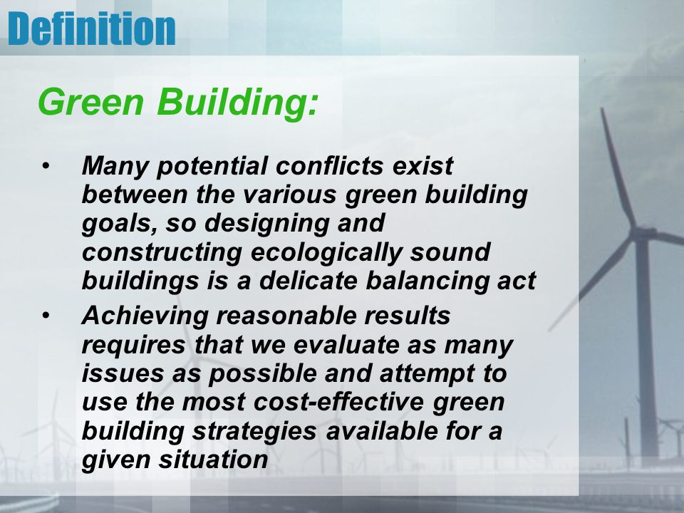 Definition Green Building: