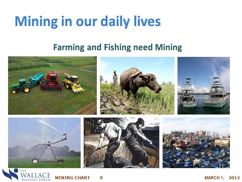 Farming and Fishing need Mining