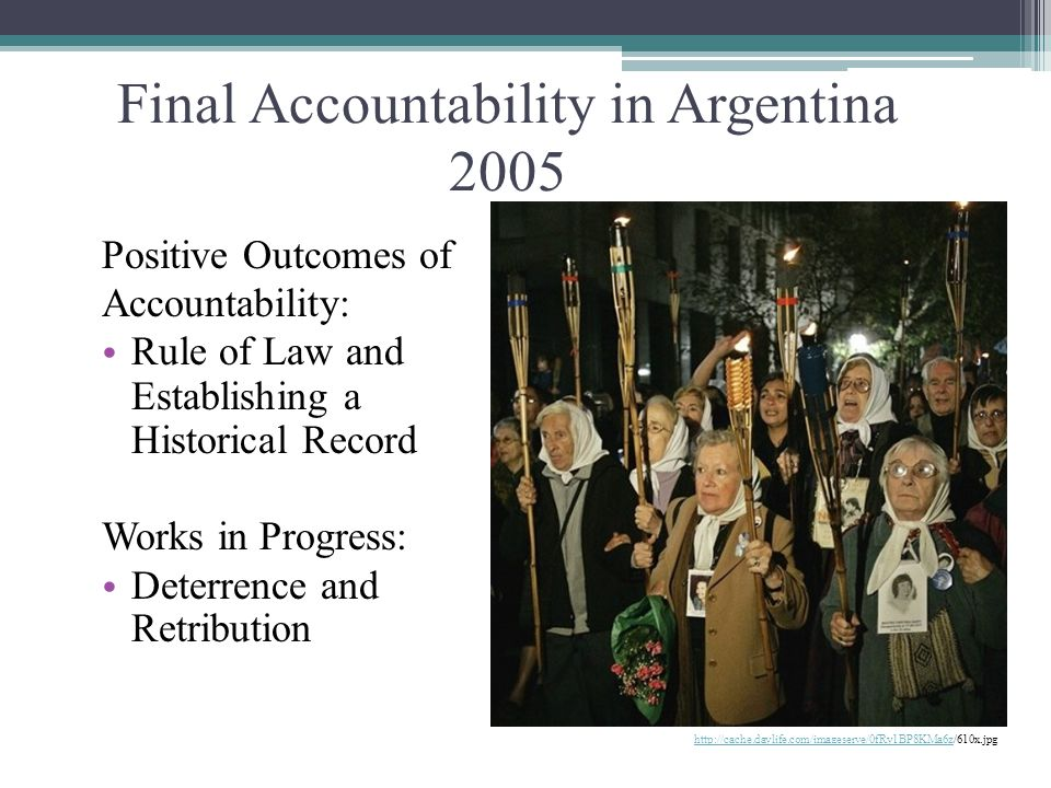 Final Accountability in Argentina 2005