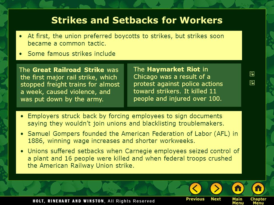 Strikes and Setbacks for Workers
