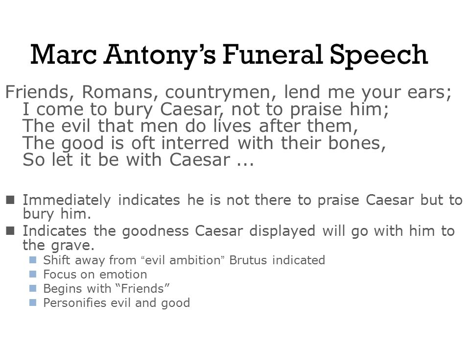 brutus speech at caesars funeral