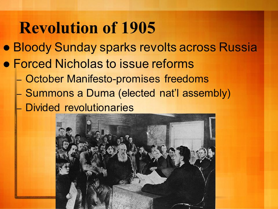 Revolution of 1905 Bloody Sunday sparks revolts across Russia