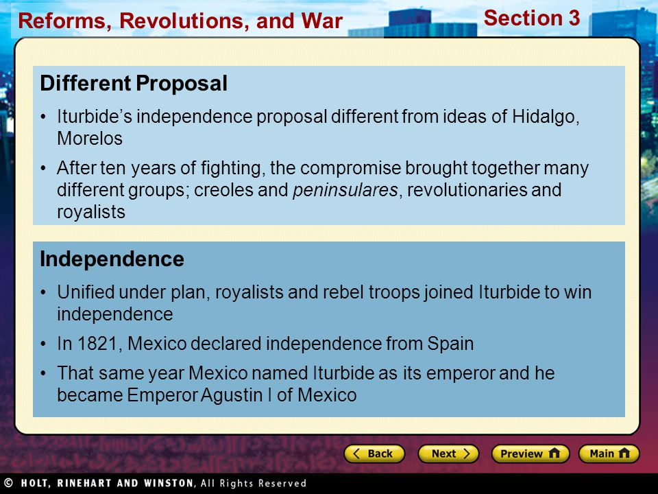 Different Proposal Independence