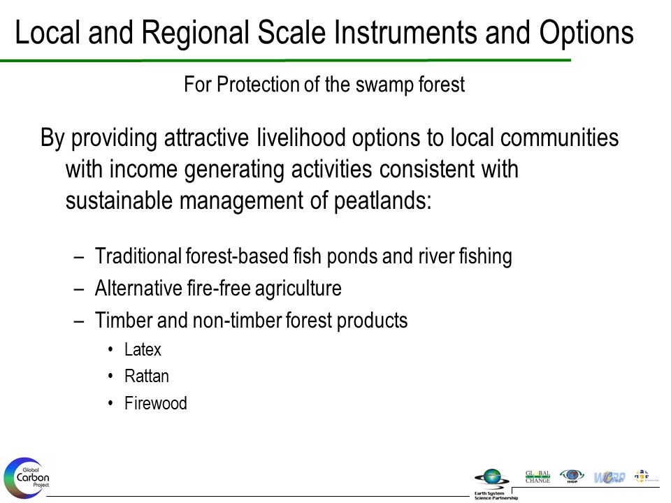 Local and Regional Scale Instruments and Options