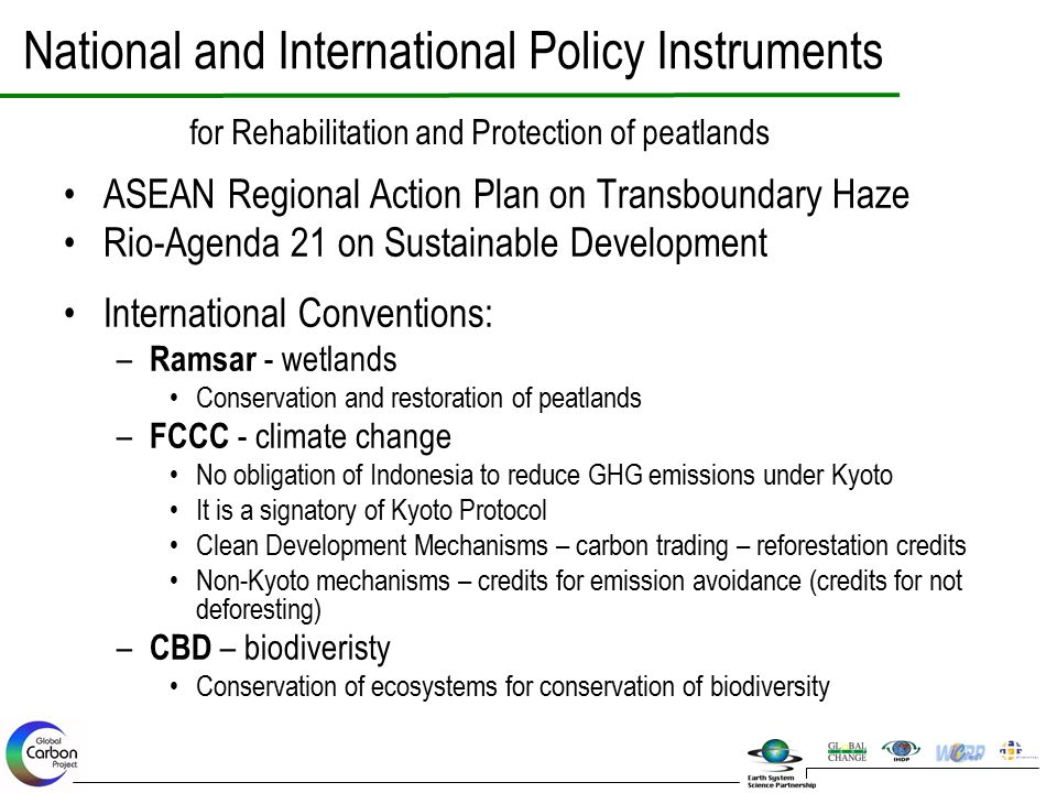 National and International Policy Instruments