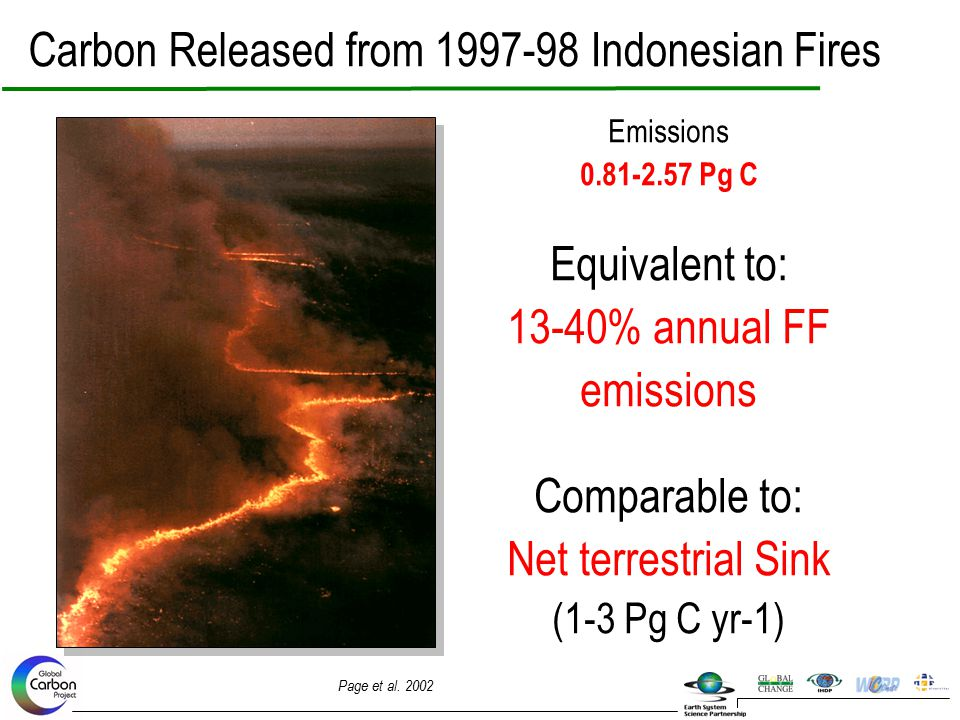 Carbon Released from 1997-98 Indonesian Fires