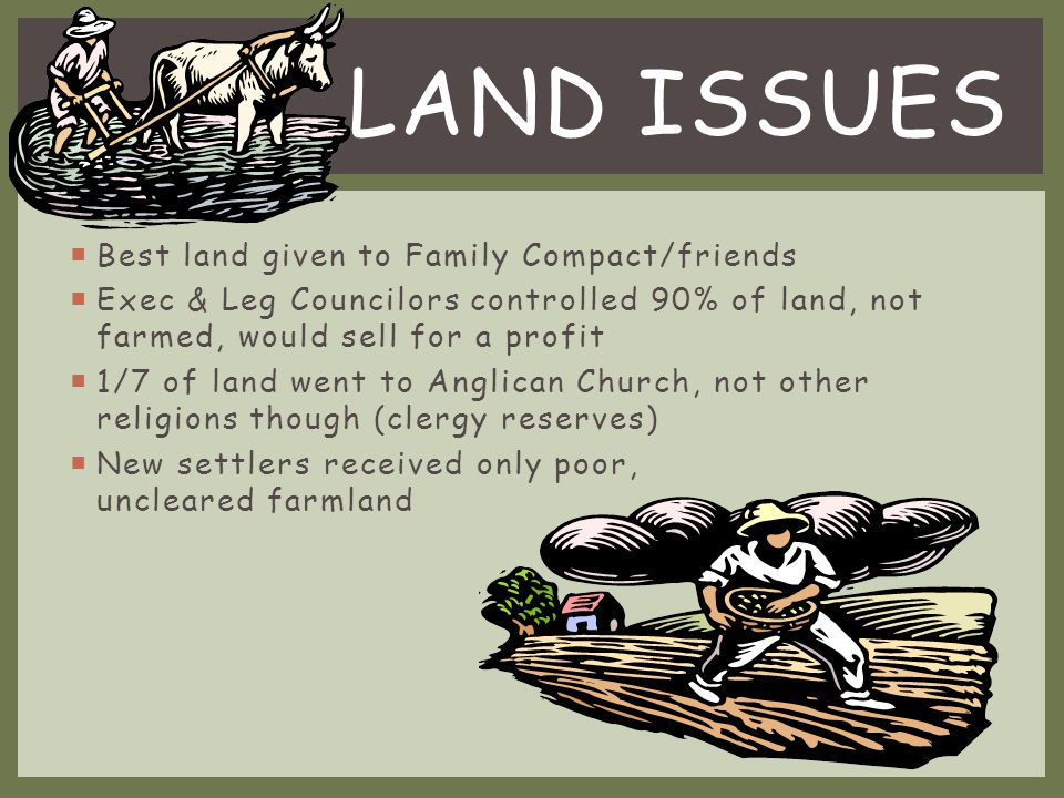 Land Issues Best land given to Family Compact/friends