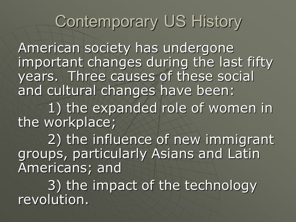 Contemporary US History