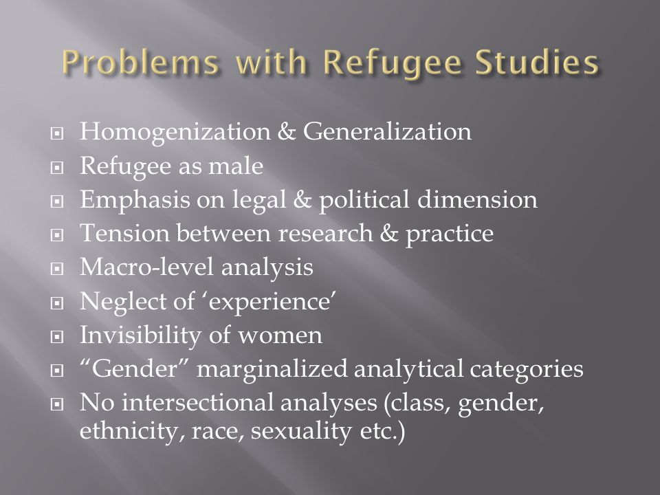 Problems with Refugee Studies