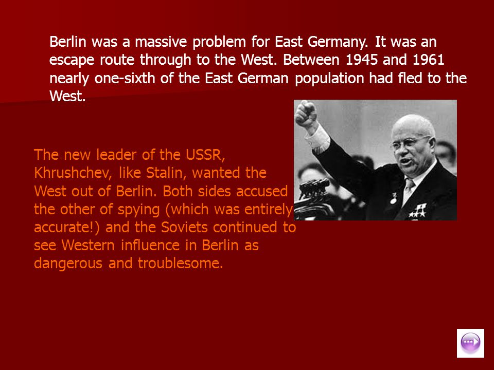 Berlin was a massive problem for East Germany