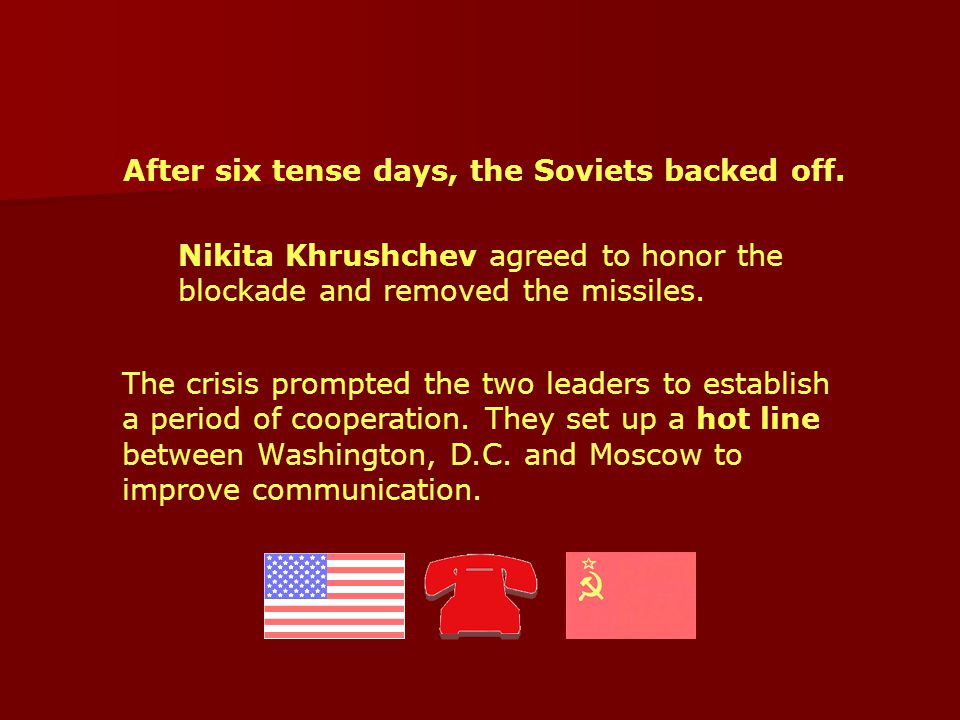 After six tense days, the Soviets backed off.