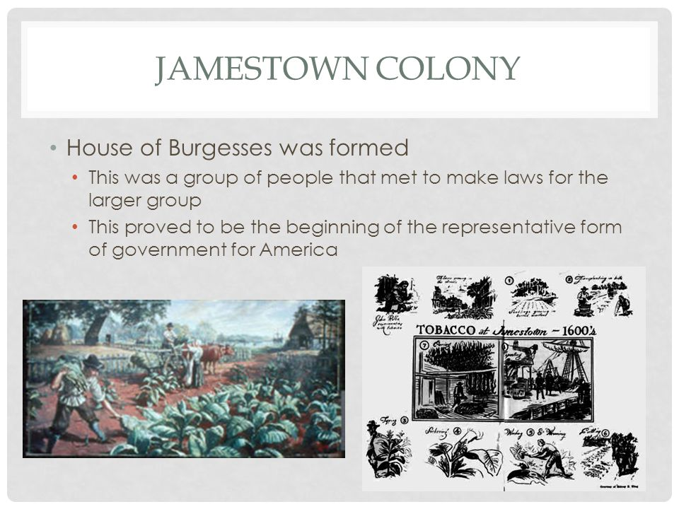Jamestown Colony House of Burgesses was formed