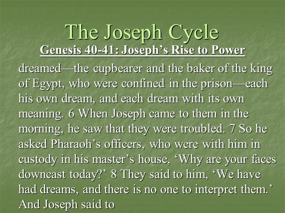 Session 6 The Joseph Cycle Genesis Ppt Download