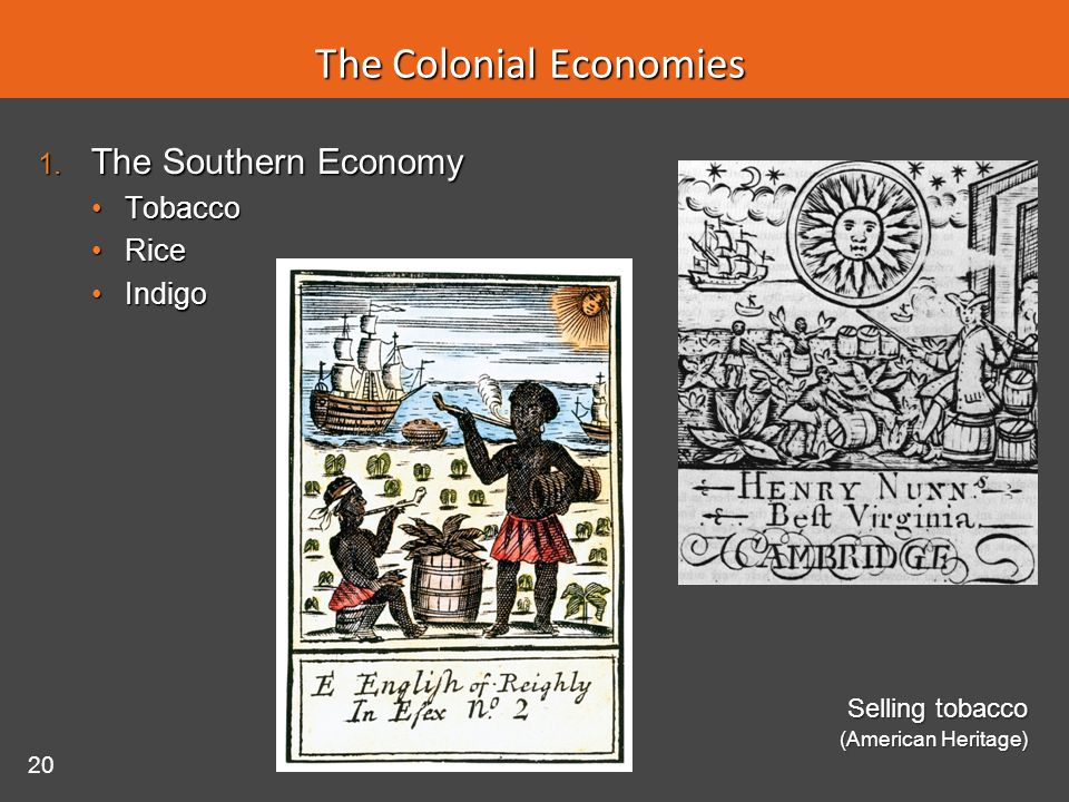 The Colonial Economies