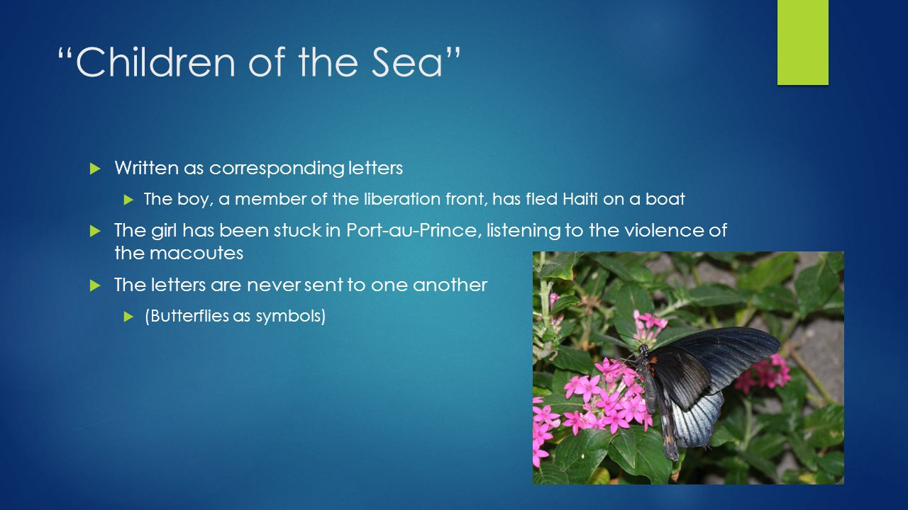 Children of the Sea Written as corresponding letters