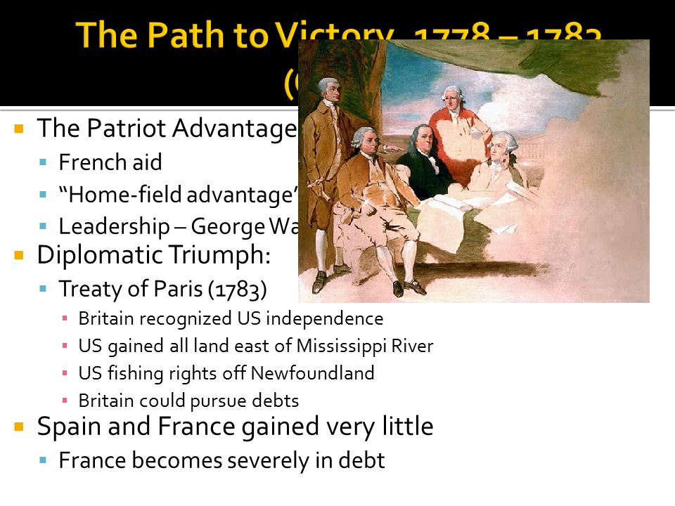 The Path to Victory, 1778 – 1783 (Cont.)