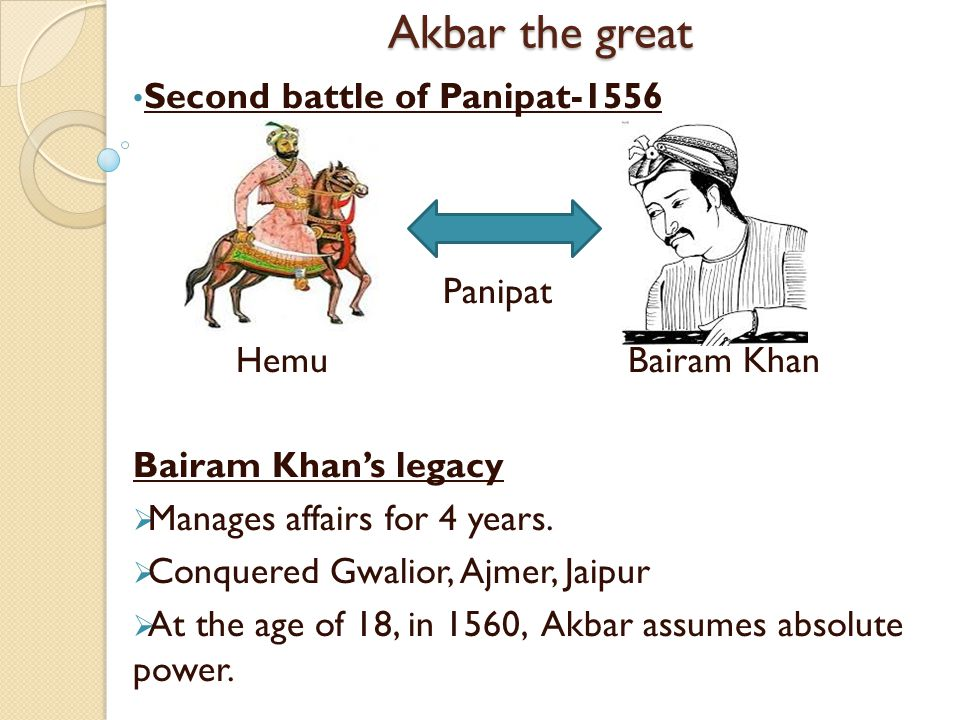 Akbar the great Second battle of Panipat-1556 Hemu Bairam Khan
