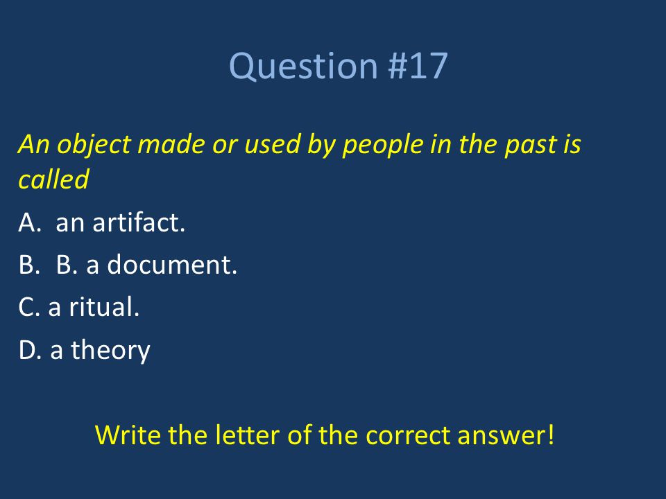 Write the letter of the correct answer!
