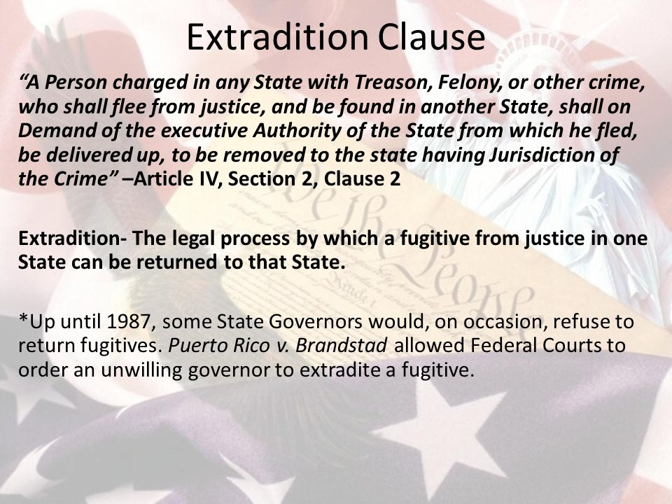 Extradition Clause