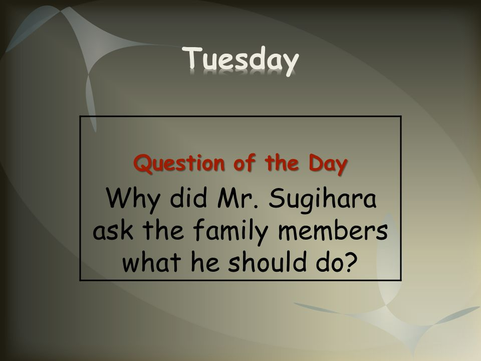 Why did Mr. Sugihara ask the family members what he should do