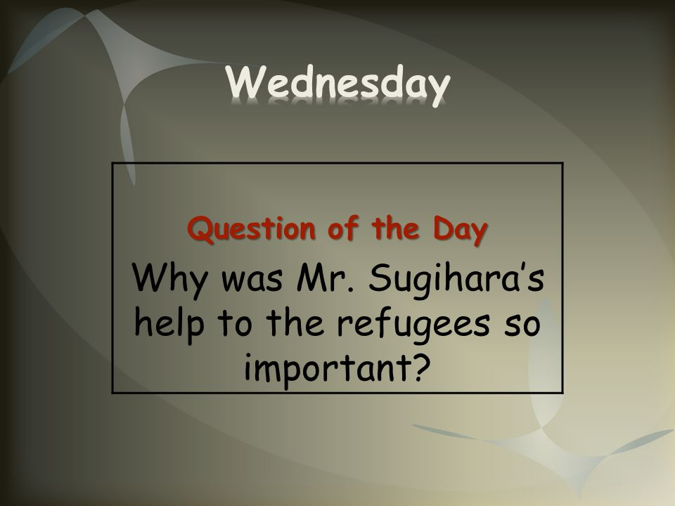 Why was Mr. Sugihara's help to the refugees so important