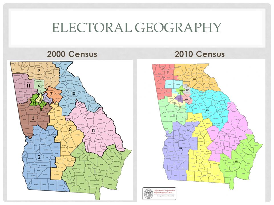 Electoral geography 2000 Census 2010 Census