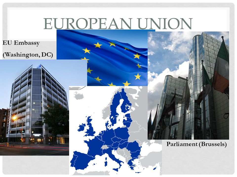 European Union EU Embassy (Washington, DC) Parliament (Brussels)