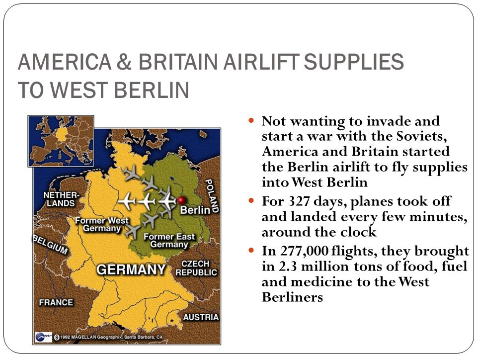 AMERICA & BRITAIN AIRLIFT SUPPLIES TO WEST BERLIN