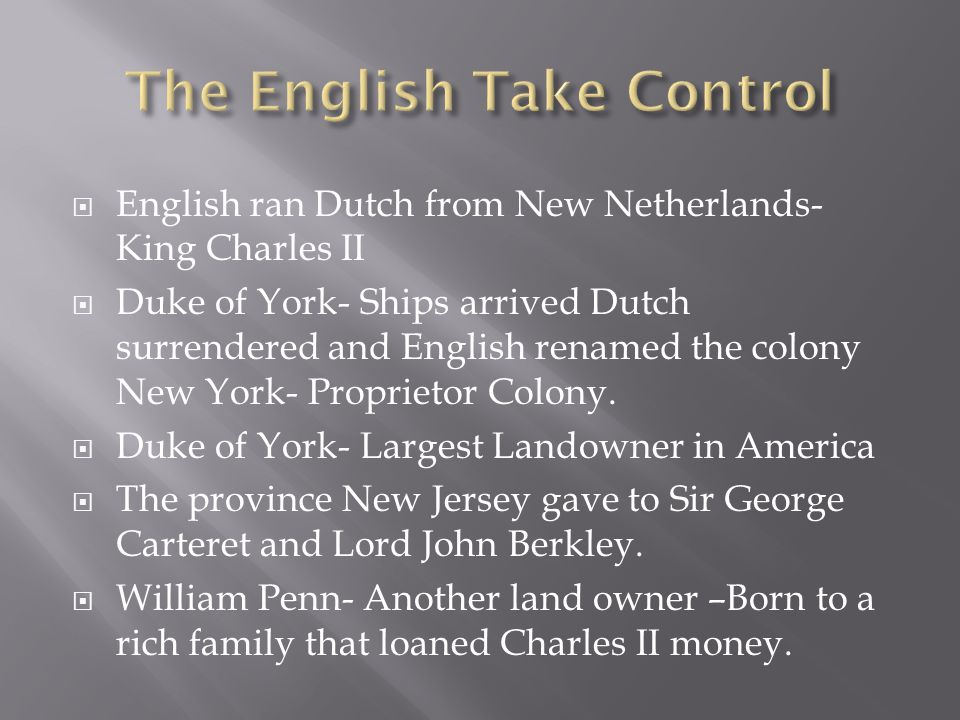 The English Take Control