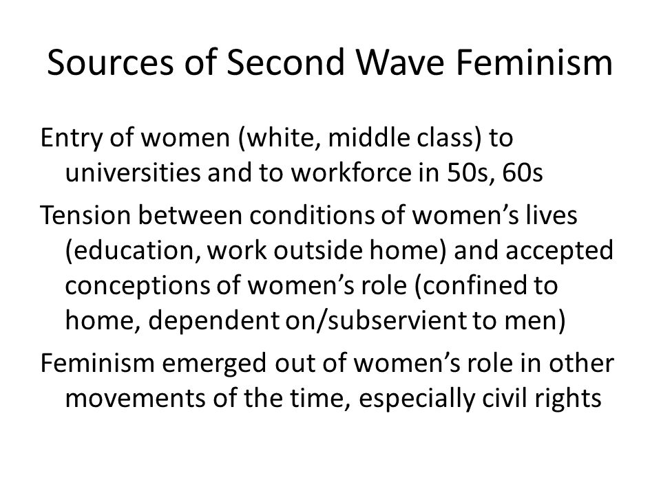 Sources of Second Wave Feminism