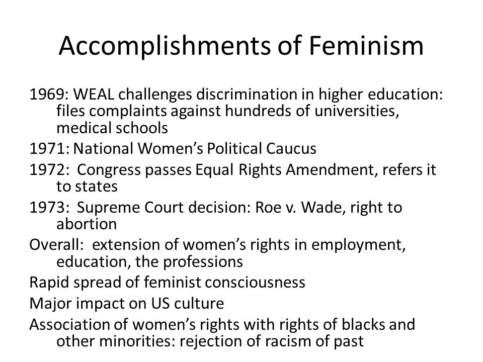 Accomplishments of Feminism