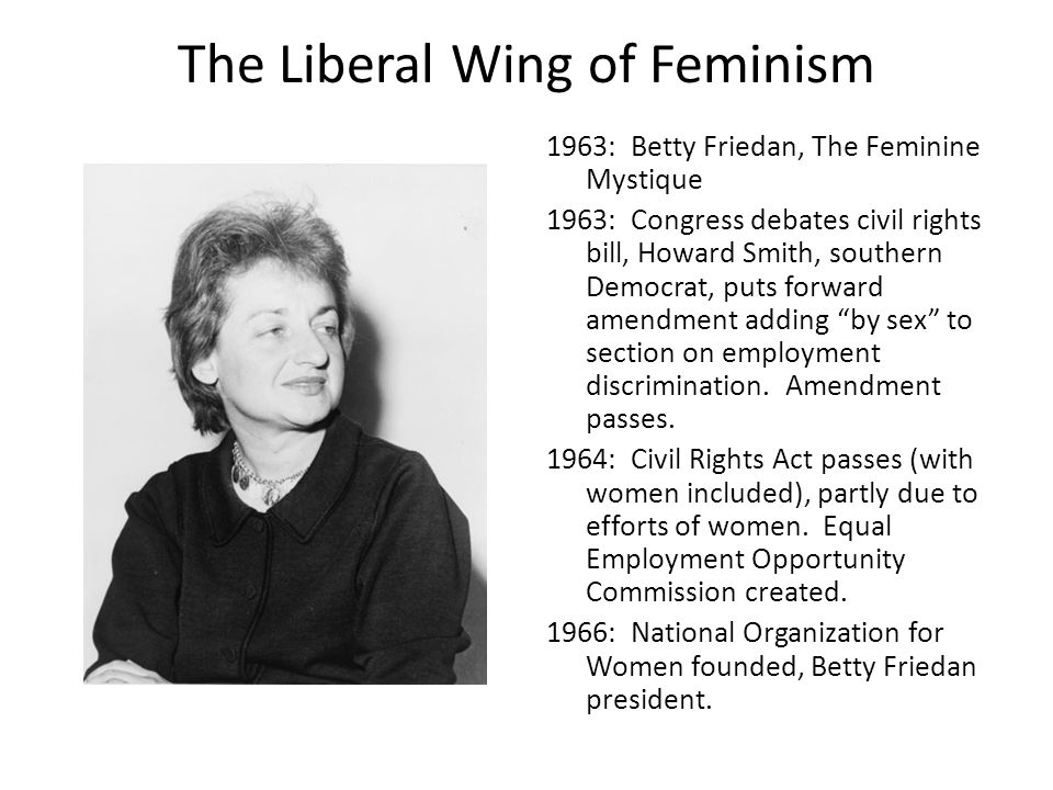 The Liberal Wing of Feminism
