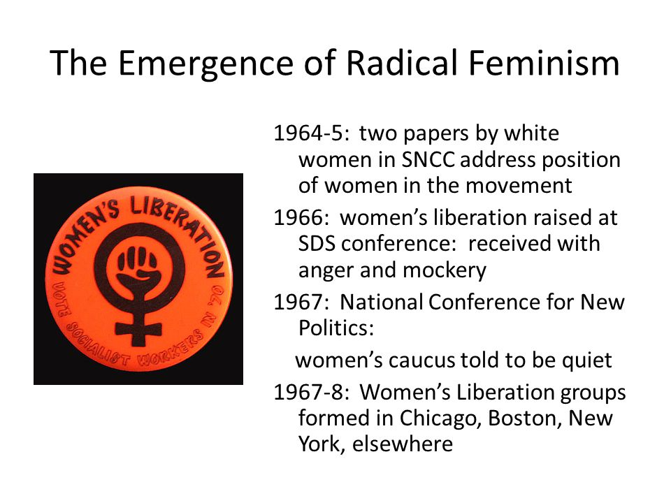 The Emergence of Radical Feminism