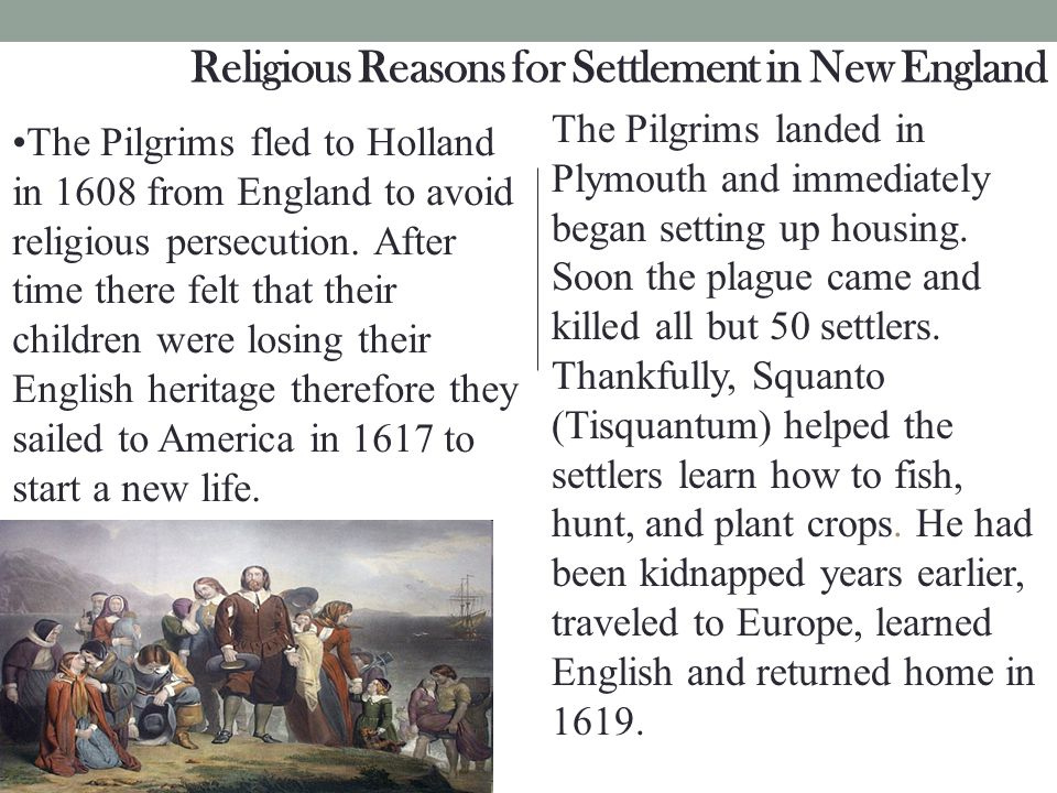Religious Reasons for Settlement in New England