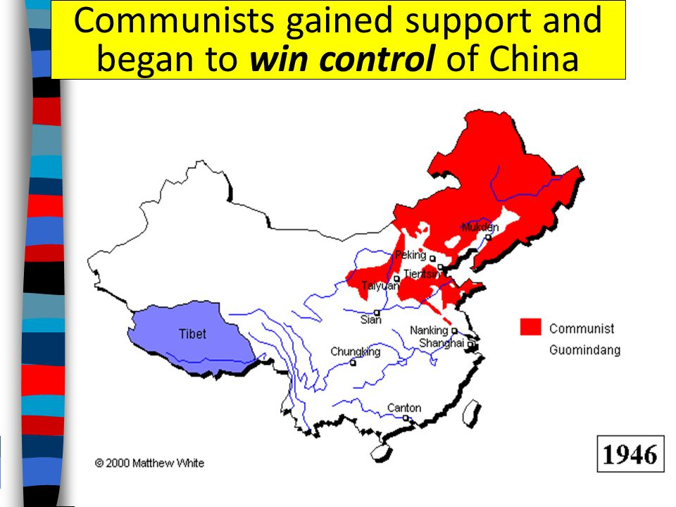 Communists gained support and began to win control of China